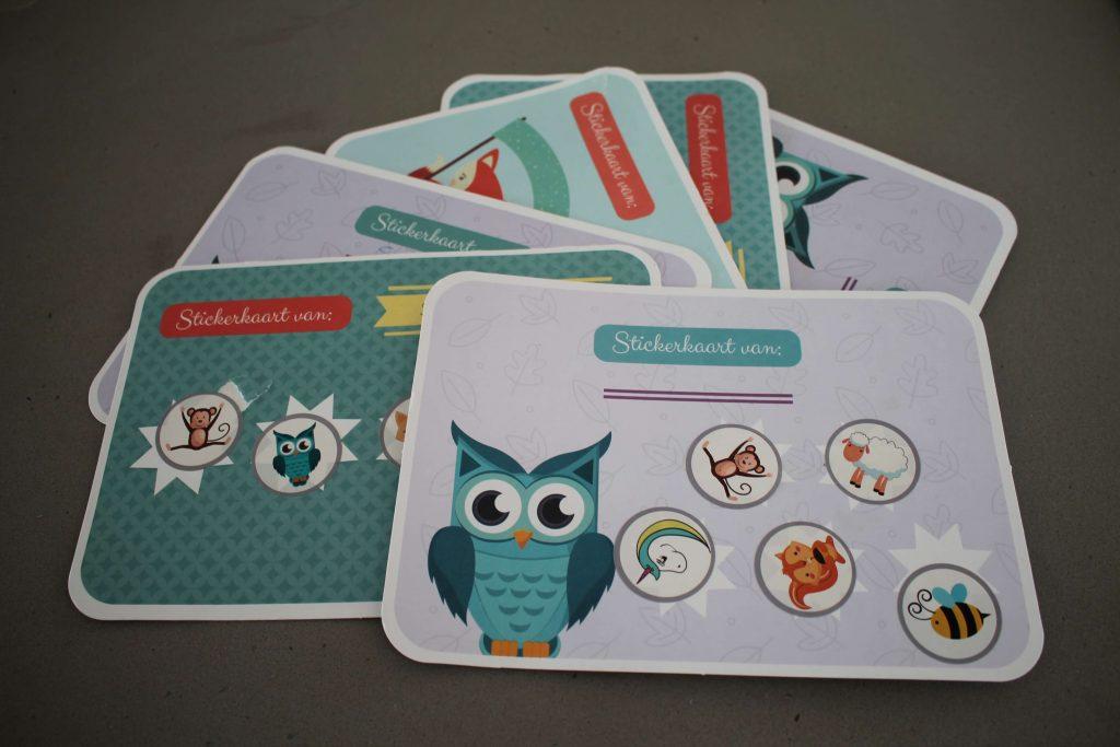 Stickerkaarten van de Zindelijkheidsbox